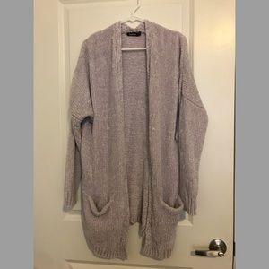 SOFT grey knit cardigan